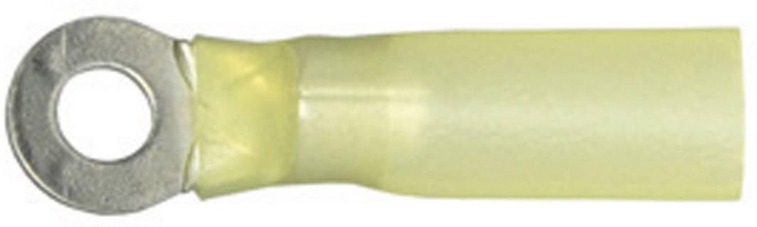 Káblové očko Vogt Verbindungstechnik 3652ah 3652ah, průřez 6 mm², průměr otvoru 4.3 mm, so zmršťovacou bužírkou , čiastočne izolované, žltá, 1 ks