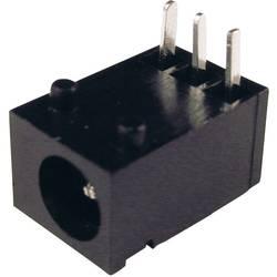 Napájecí konektor Cliff FC681455, zásuvka vestavná horizontální, 3,75 mm