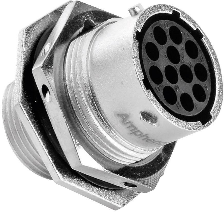 Přístrojová zásuvka - série RT360™ Amphenol RT0714-12SNH 13 A, poniklovaný, 1 ks