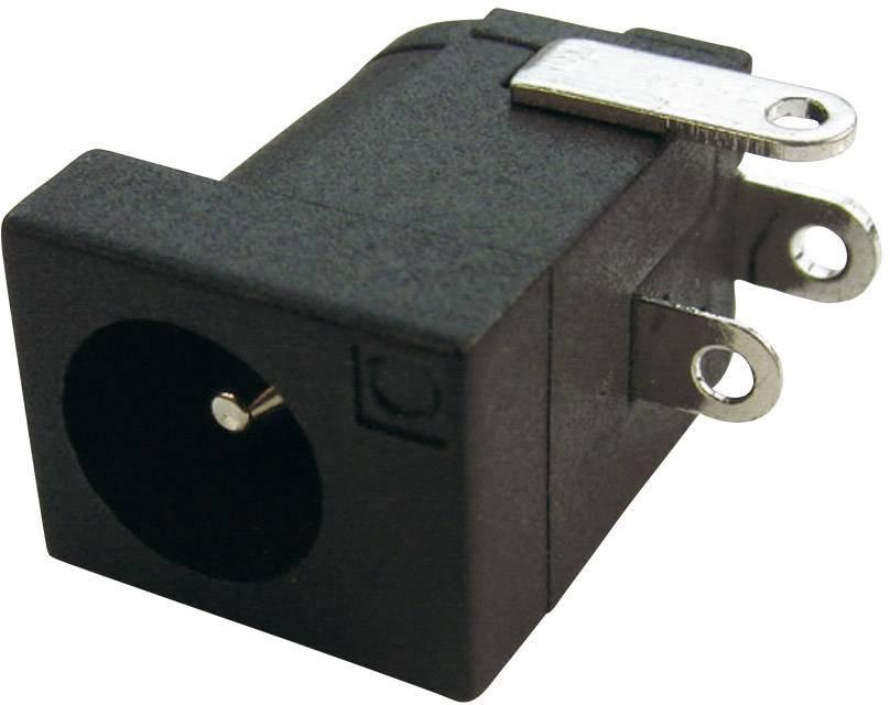 Napájecí konektor Cliff FCR681465, zásuvka vestavná horizontální, 4 mm