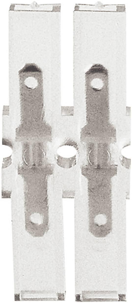Faston zástrčka Klauke 8102 2.8 mm x 0.8 mm, 180 °, plná izolace, transparentní, 1 ks
