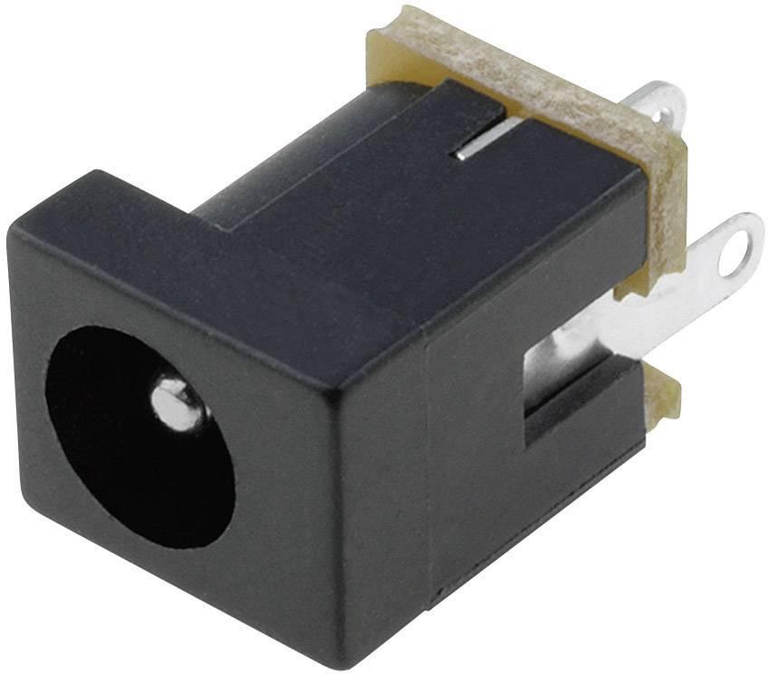 Napájecí konektor Cliff FC681461, zásuvka vestavná vertikální, 4 mm