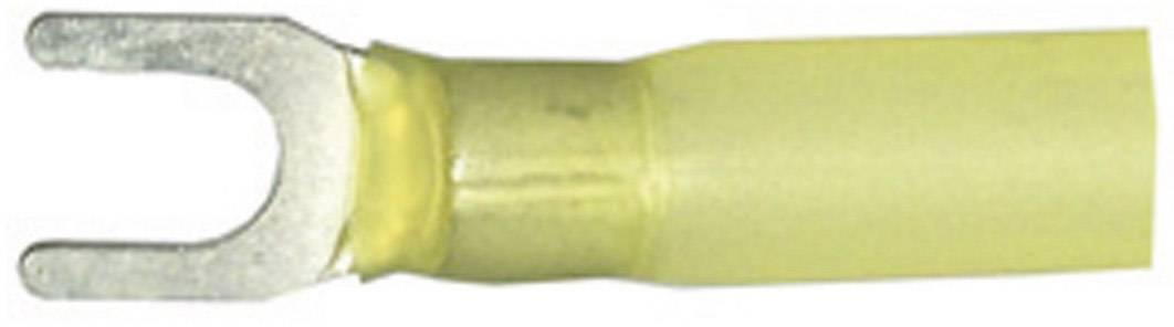 Vidlicové kabelové oko se smršťovací bužírkou Vogt Verbindungstechnik 3660ch, Ø otvoru 6.5 mm, žlutá, 1 ks