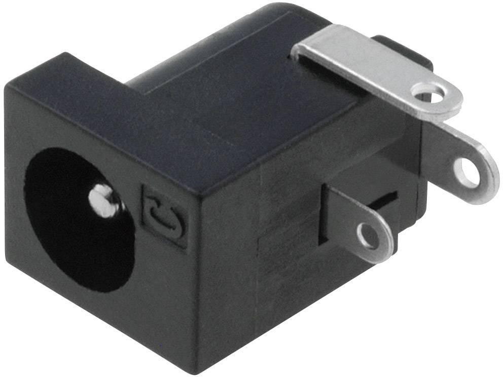 Napájecí konektor Cliff FC68148, zásuvka vestavná horizontální, 6,3 mm