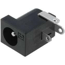 Napájecí konektor Cliff FC68149, zásuvka vestavná horizontální, 6,3 mm