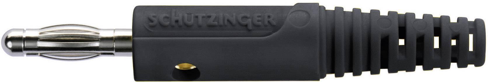 Lamelová zástrčka Schützinger FK 8 S / SW – zástrčka, rovná, Ø hrotu: 4 mm, čierna, 1 ks