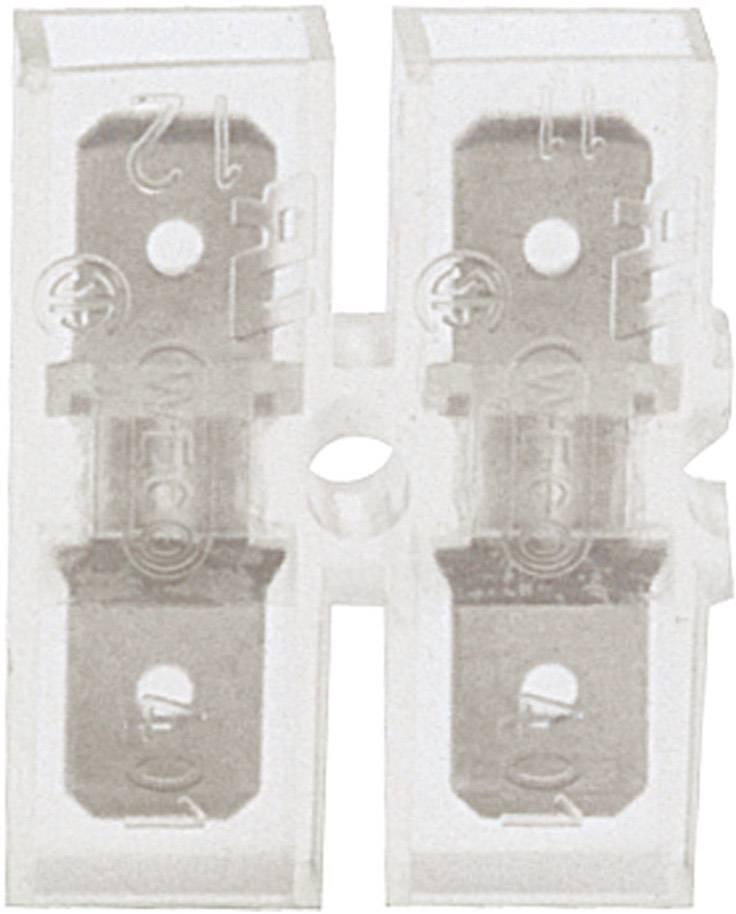 Jazýčkový konektor izol. Klauke 8001, 0,8 mm, PVC, 180 °, transparentná