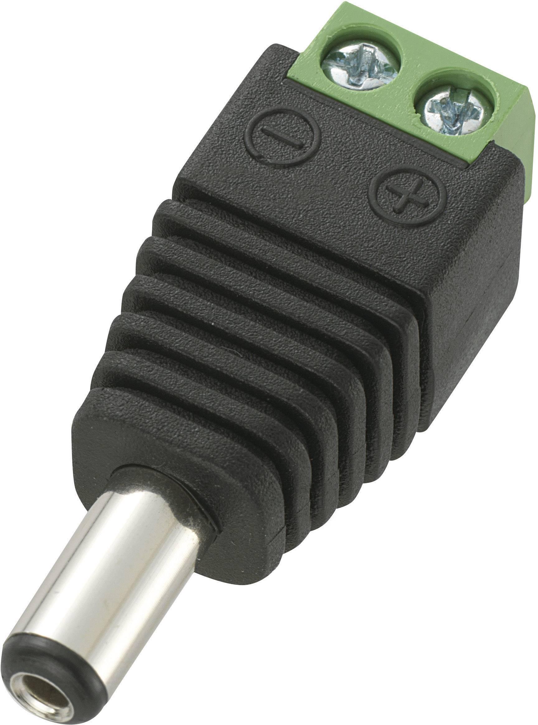 Nízkonapěťový konektor TRU COMPONENTS 735808, 12 V/DC, 5 A, zástrčka, rovná, DC14-M, 5.5 mm, 2.1 mm, 1 ks