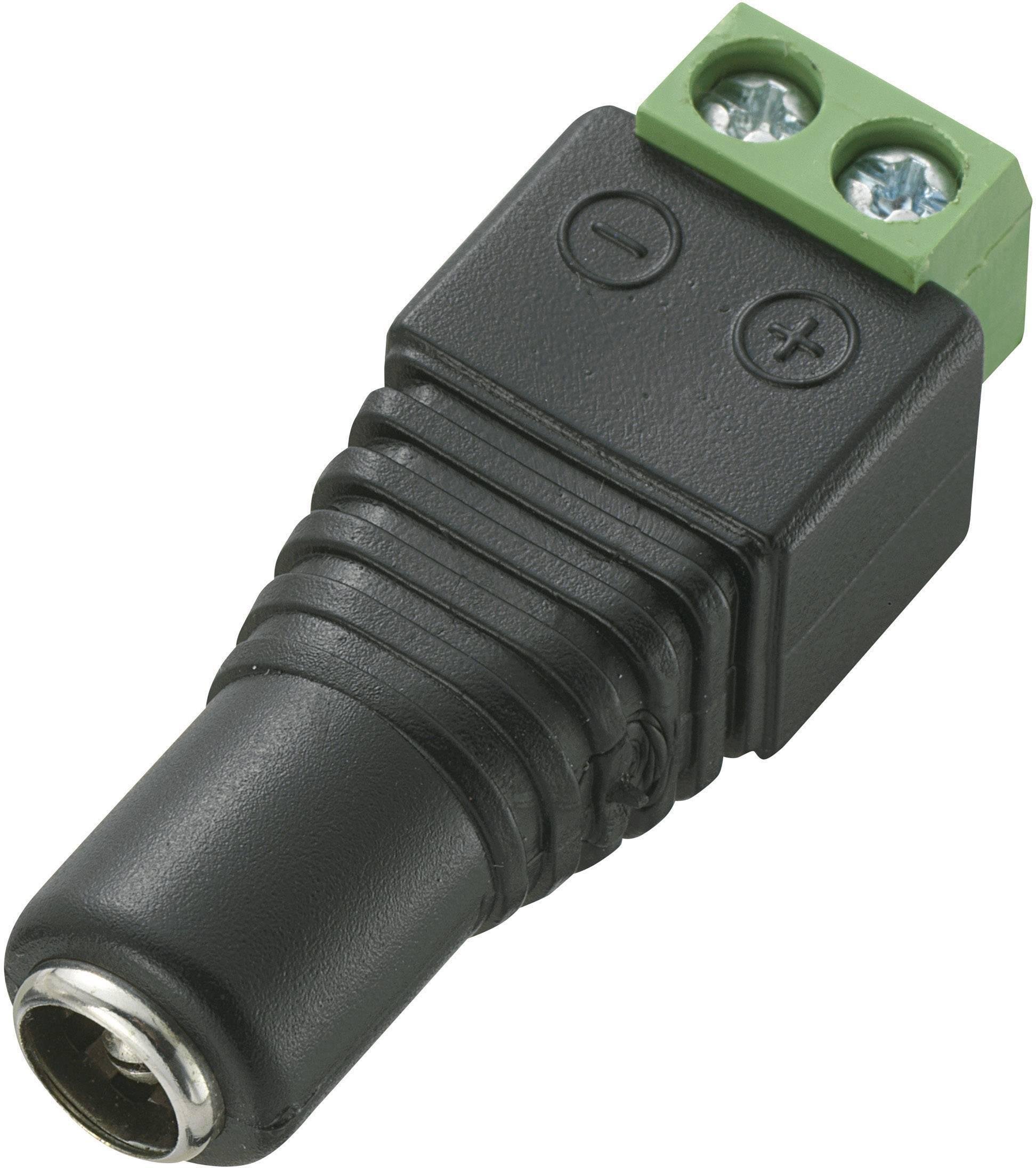 Nízkonapěťový konektor TRU COMPONENTS 735862, 12 V/DC, 5 A, zásuvka, rovná, DC-13F, 5.5 mm, 5.5 mm, 2.5 mm, 1 ks
