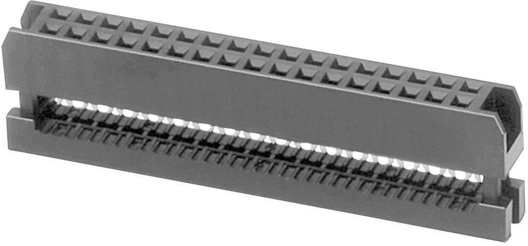 Konektor pre ploché káble W & P Products 343-26-60-1, raster: 2 mm, počet pólov: 26, 1 ks