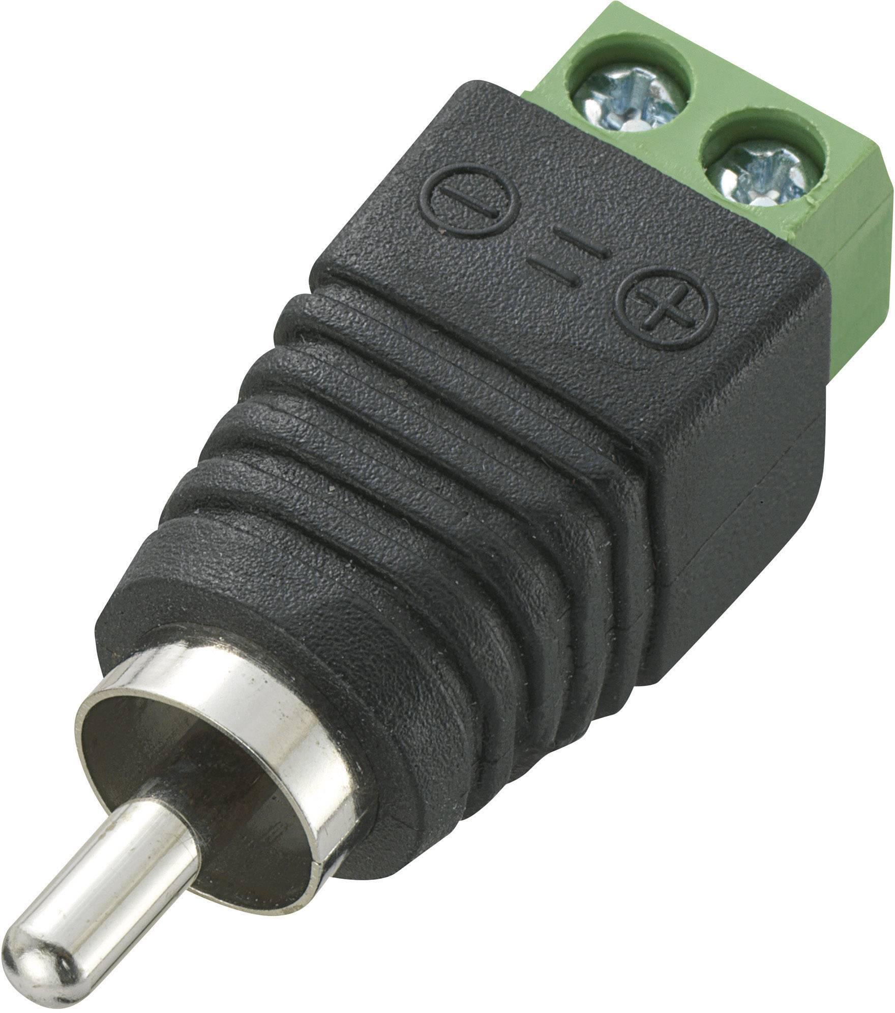 Cinch konektor zástrčka, rovná Počet pólů: 2 černá LT-RAC-DC