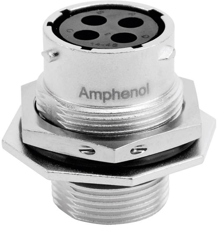 Přístrojová zásuvka - série RT360™ Amphenol RT0714-4SNH 23 A / 13 A, poniklovaný, 1 ks