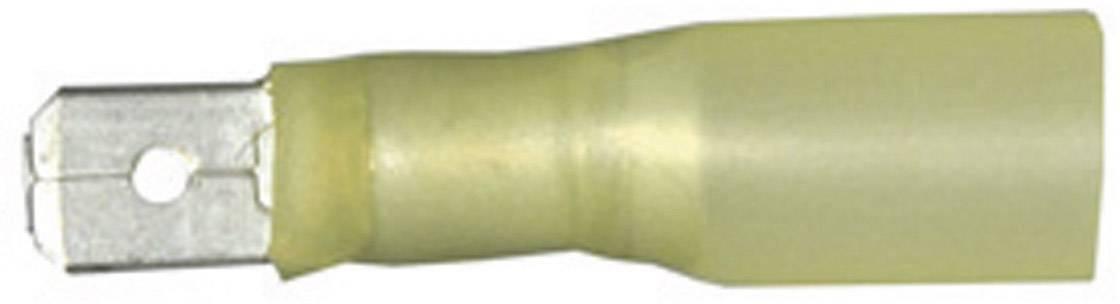 Faston konektor se smršťovací bužírkou Vogt Verbindungstechnik 3912h, 6.3 mm x 0.8 mm, žlutá, 1 ks