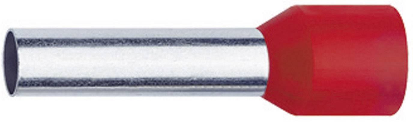 Dutinka Klauke 4718, 1 mm², 8 mm, částečná izolace, červená, 1000 ks