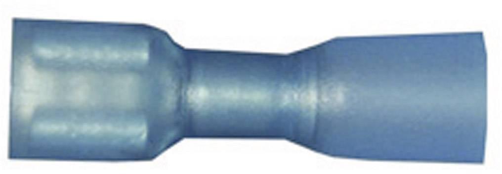 Faston zásuvka Vogt Verbindungstechnik 3966h se smršťovací bužírkou, 6.3 mm x 0.8 mm, 180 °, plná izolace, modrá, 1 ks