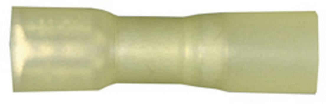 Faston zásuvka Vogt Verbindungstechnik 3967h se smršťovací bužírkou, 6.3 mm x 0.8 mm, 180 °, plná izolace, žlutá, 1 ks
