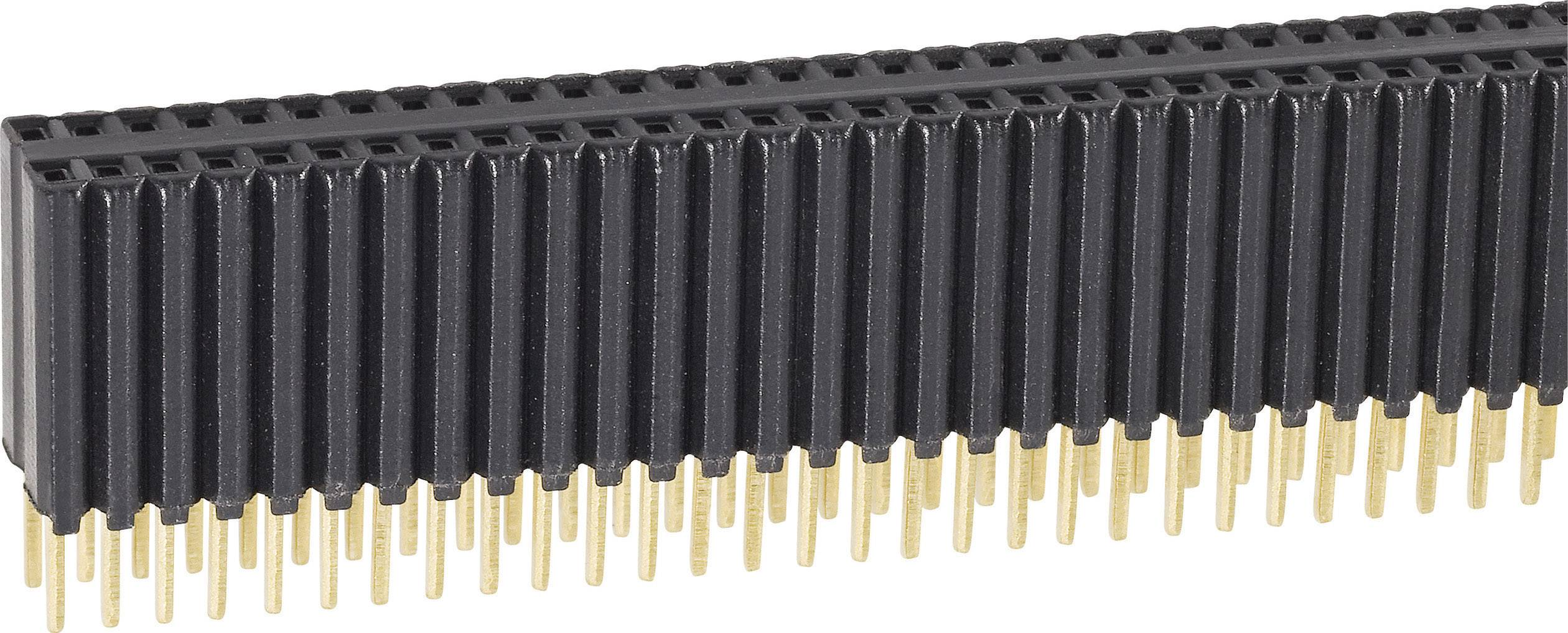 Zásuvková lišta (štandardná) Fischer Elektronik BLM KG 2/ 72/G, řádky 2, kontakty na řádek 36, 1 ks