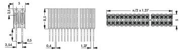Zásuvková lišta vyšší kvality Fischer Elektronik BLM KG 2/ 72/Z, řádky 2, kontakty na řádek 36, 1 ks