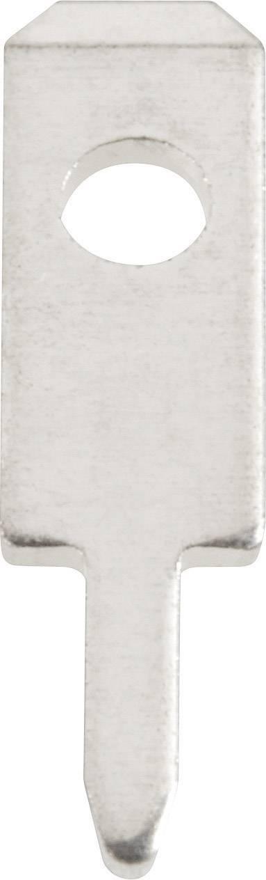Jazýčkový konektor neizol. Vogt 378005.68, 0,8 mm, 180 ° , 1,4 mm, 100 ks, kov