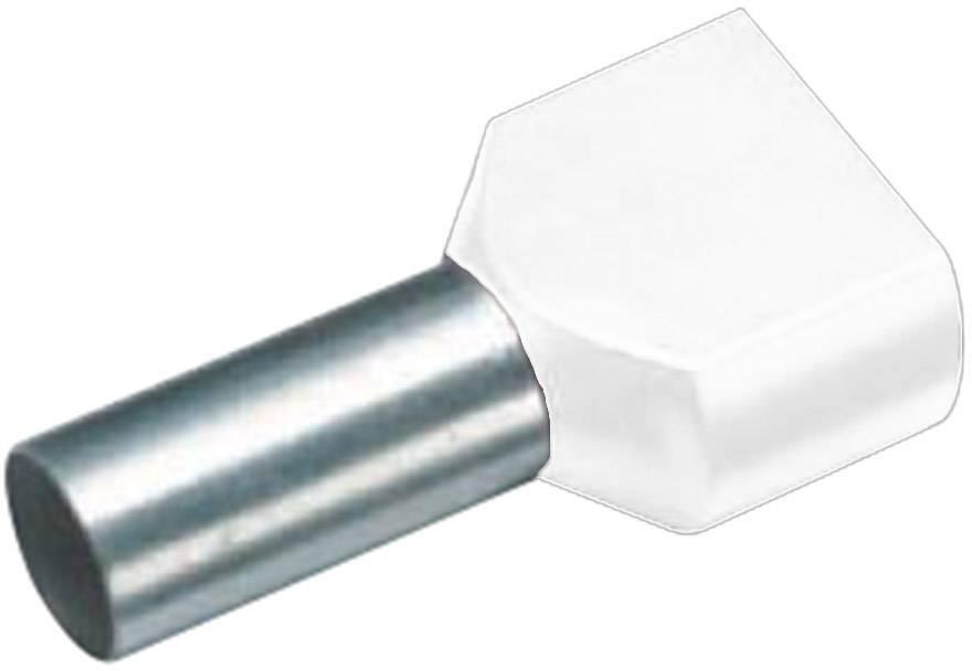 Dvojica dutiniek Vogt Verbindungstechnik 460208D, 0.75 mm², 8 mm, čiastočne izolované, biela, 100 ks