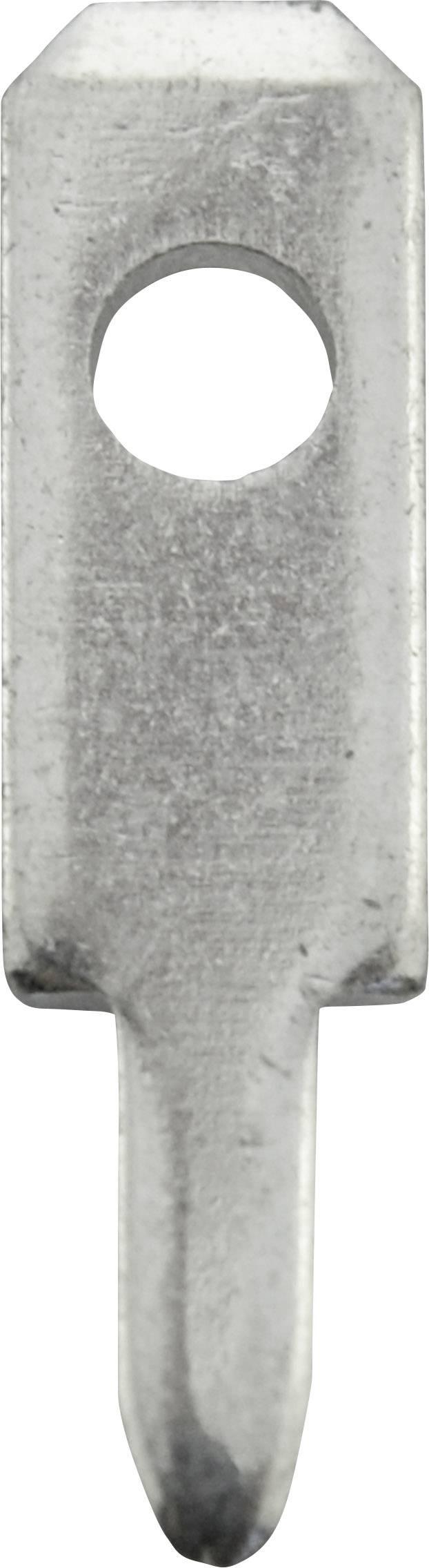 Faston zástrčka Vogt Verbindungstechnik 378008,68 2.8 mm x 0.8 mm, 180 °, neizolované, kov, 100 ks