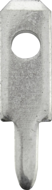 Jazýčkový konektor neizol. Vogt 3780A08.68, 0,8 mm, 180 ° , 1,3 mm, 100 ks, kov