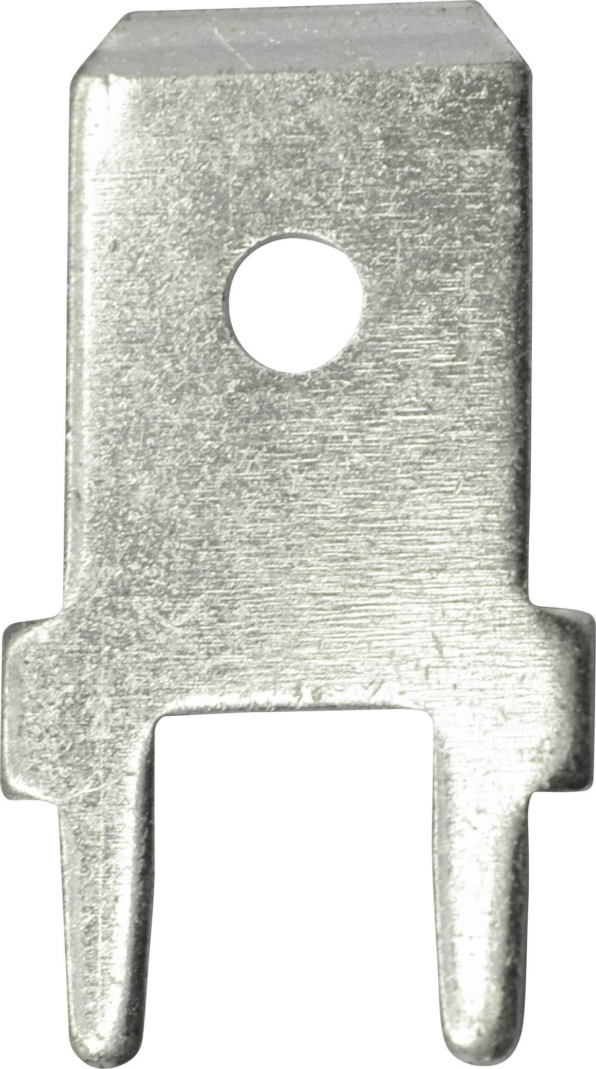 Jazýčkový konektor neizol. Vogt 3866A.68, 0,8 mm, 180 °, 1,3 mm, 100 ks, kov