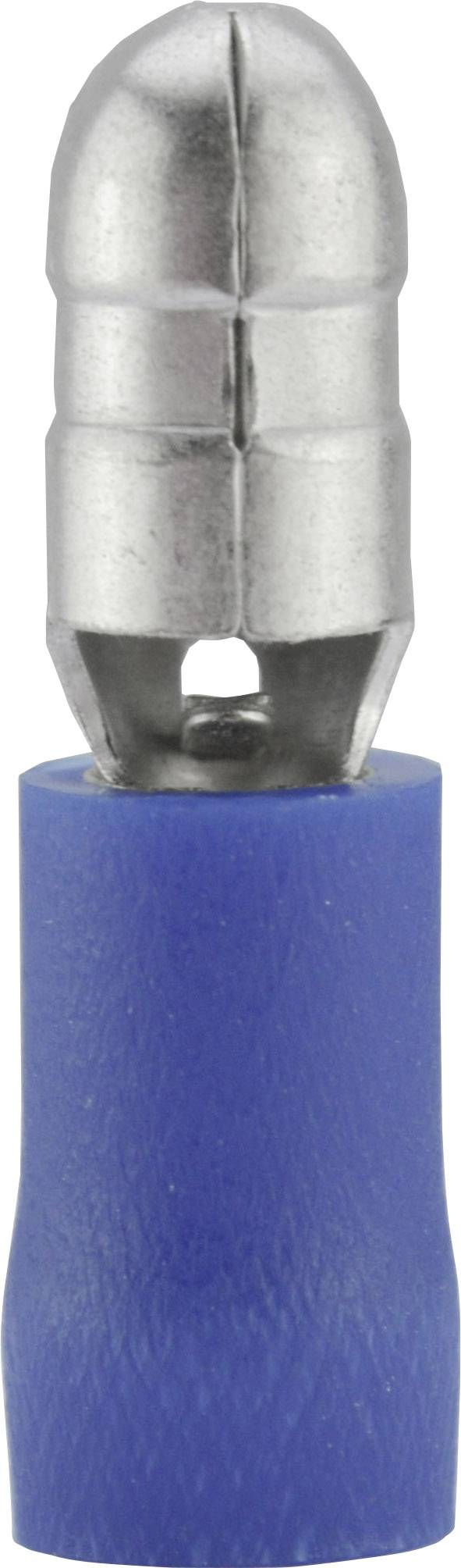 Guľatý faston Vogt Verbindungstechnik 3921S, 1.50 - 2.50 mm², Ø hrotu: 5 mm, čiastočne izolované, modrá, 1 ks