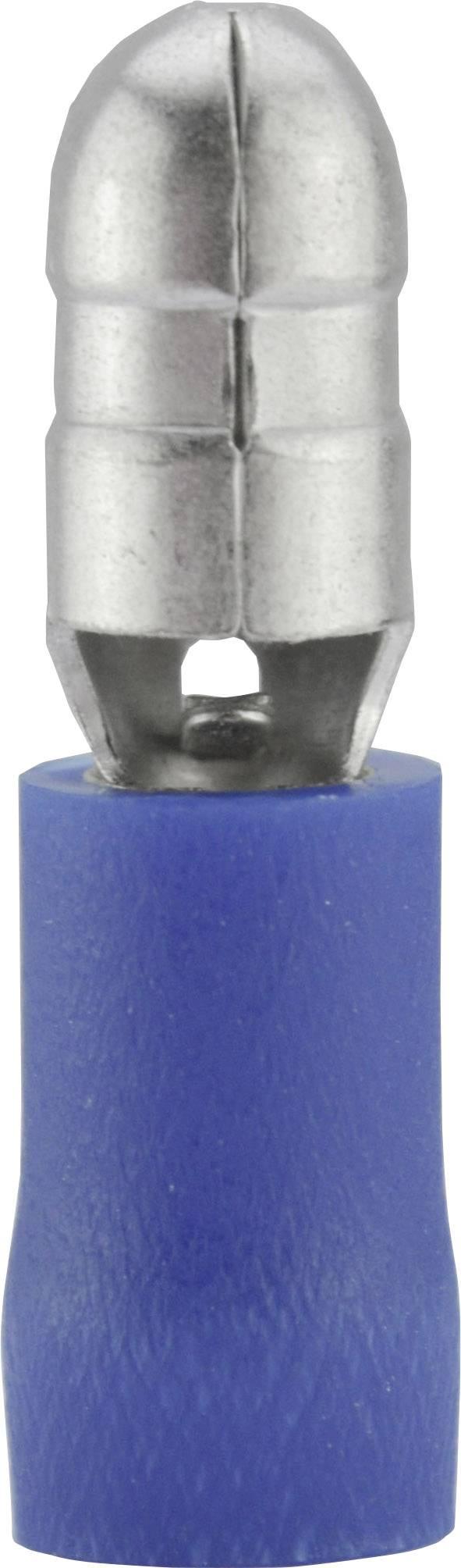 Kulatá zástrčka Vogt 3921S, 1,5 / 2,5 mm², Ø: 5 mm, modrá