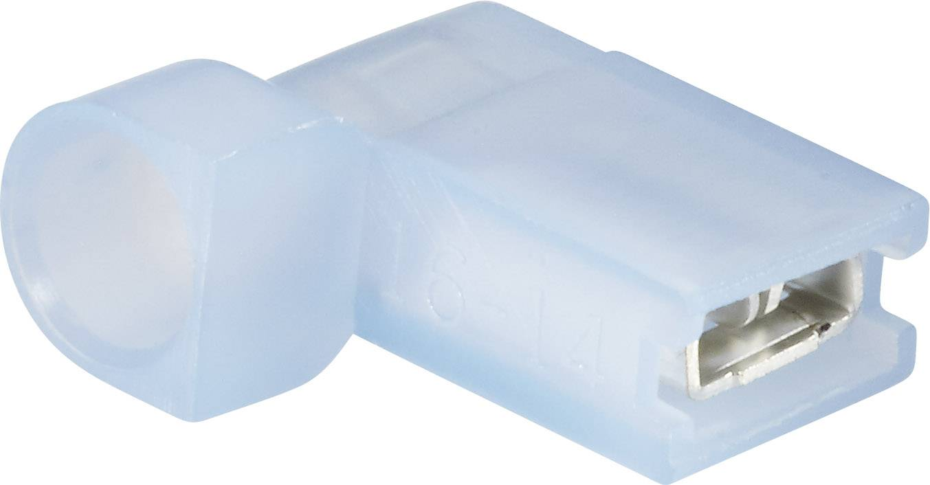 Faston konektor zásuvka Vogt Verbindungstechnik 393205S 4.8 mm x 0.5 mm, 90 °, úplne izolované, modrá, 1 ks