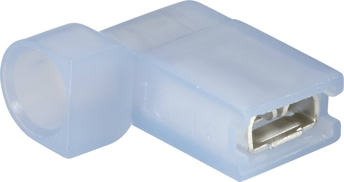 Faston zásuvka Vogt Verbindungstechnik 393208S 4.8 mm x 0.8 mm, 90 °, plná izolace, modrá, 1 ks