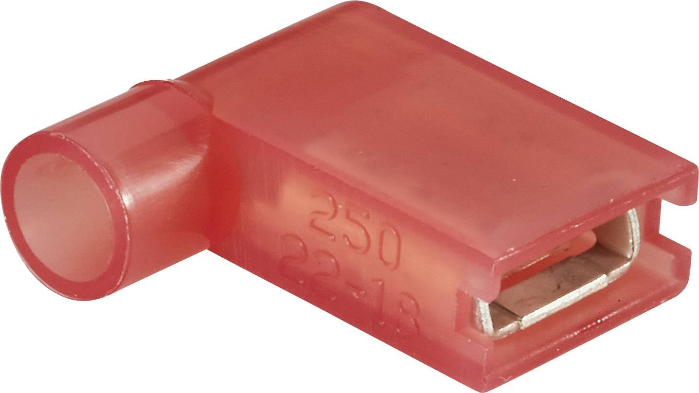 Faston zásuvka Vogt Verbindungstechnik 3937S 6.3 mm x 0.8 mm, 90 °, plná izolace, červená, 1 ks