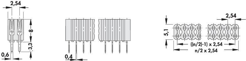 Zásuvková lišta Fischer Elektronik BL 2/ 72/Z, řádky 2, kontakty na řádek 36, 1 ks