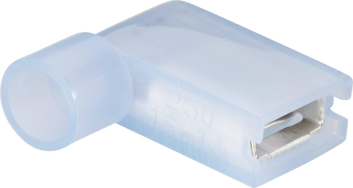 Faston zásuvka Vogt Verbindungstechnik 3939S 6.3 mm x 0.8 mm, 90 °, plná izolace, modrá, 1 ks