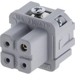 Konektorová vložka, zásuvka Amphenol C146 10B003 002 4, 3 + PE, šroubovací, 1 ks