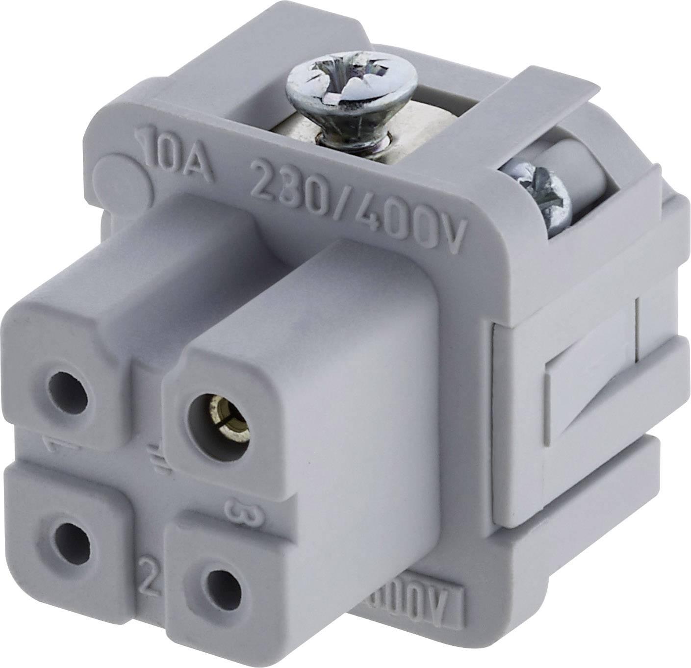 Sada konektorové zásuvky Heavy mate® C146 Amphenol C146 10B003 002 4, počet kontaktů 3 + PE, 1 ks