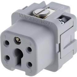 Konektorová vložka, zásuvka Amphenol C146 10B004 002 4, 4 + PE, šroubovací, 1 ks