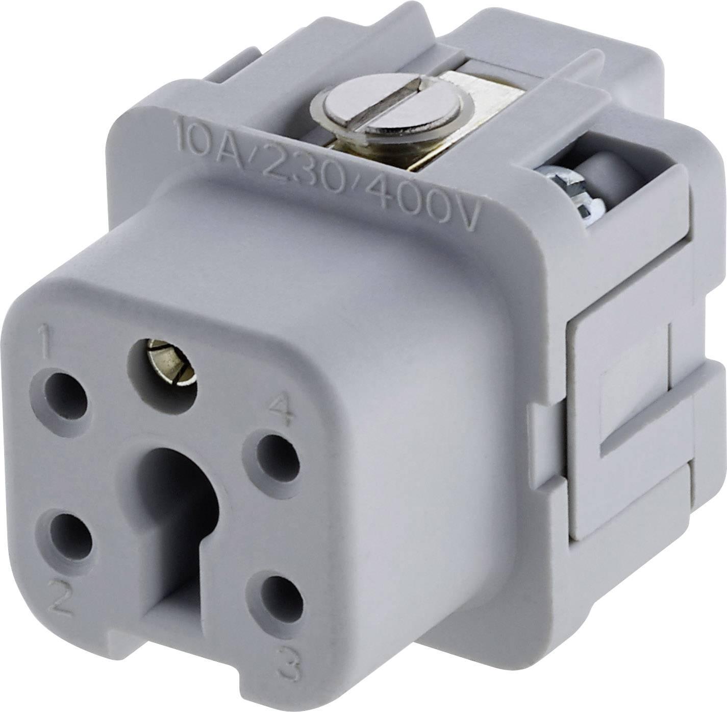 Sada konektorové zásuvky Heavy mate® C146 Amphenol C146 10B004 002 4, počet kontaktů 4 + PE, 1 ks