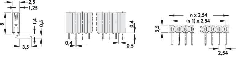 Zásuvková lišta Fischer Elektronik BL 3/ 36/Z, řádky 1, kontakty na řádek 36, 1 ks