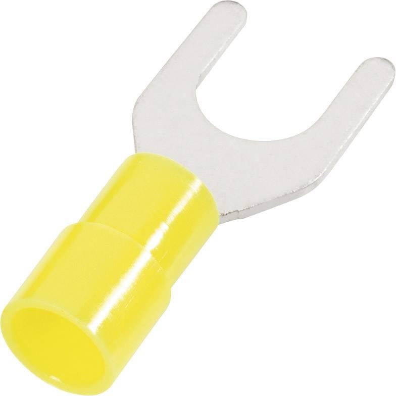Vidlicové kabelové oko Cimco 180164, Ø otvoru 6.5 mm, žlutá, 1 ks