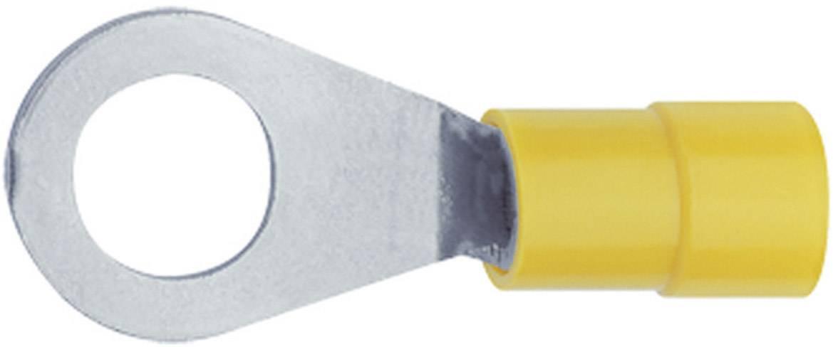 Kulaté kabelové oko Klauke 6505 6505, průřez 6 mm², průměr otvoru 5.3 mm, částečná izolace, žlutá, 1 ks