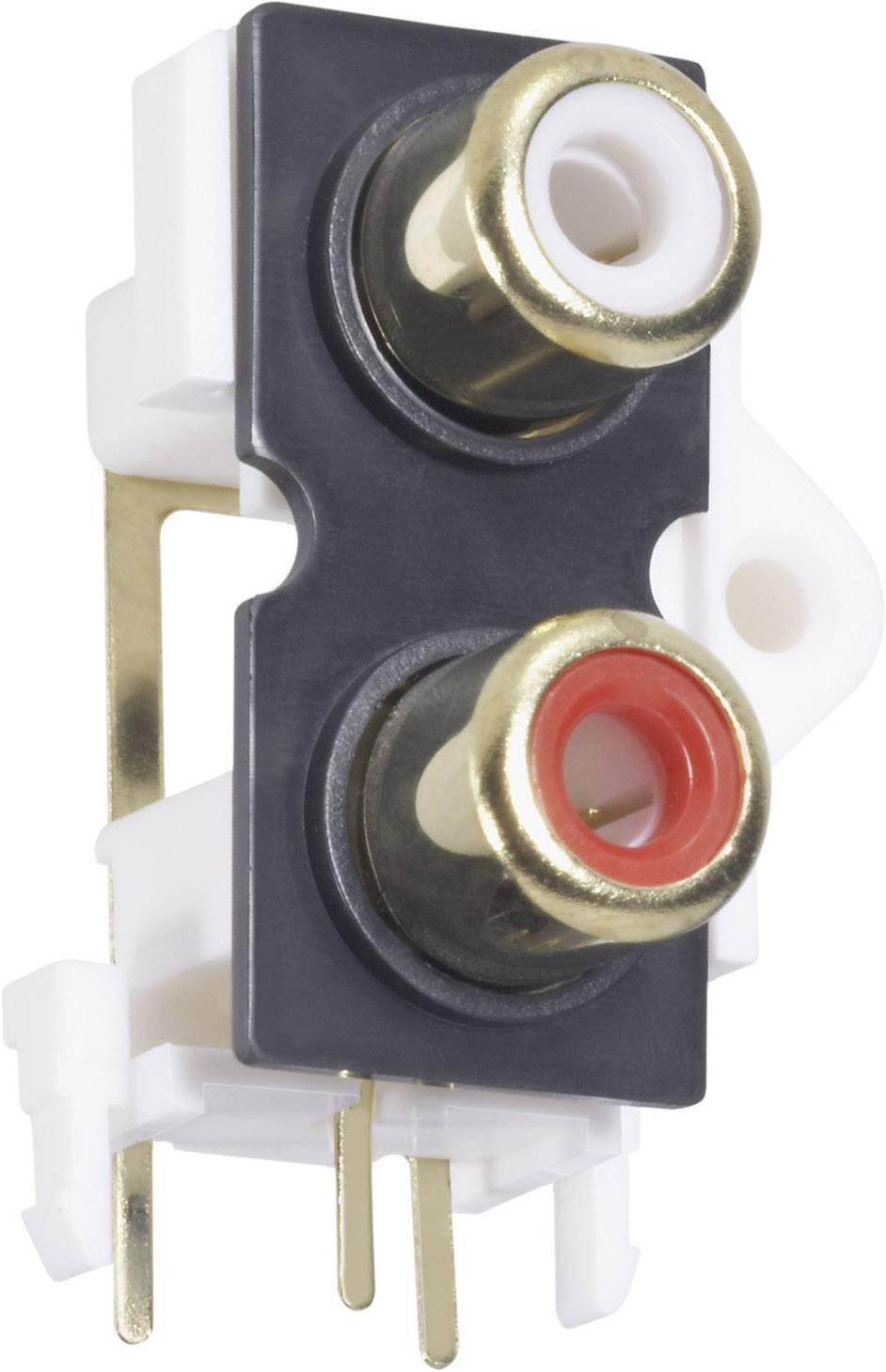 Cinch konektor zásuvka, vstavateľná vertikálna TRU COMPONENTS 2, 1 ks