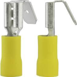 Faston zásuvka Vogt Verbindungstechnik 3933 s odbočkou, 6.3 mm x 0.8 mm, 180 °, částečná izolace, žlutá, 1 ks