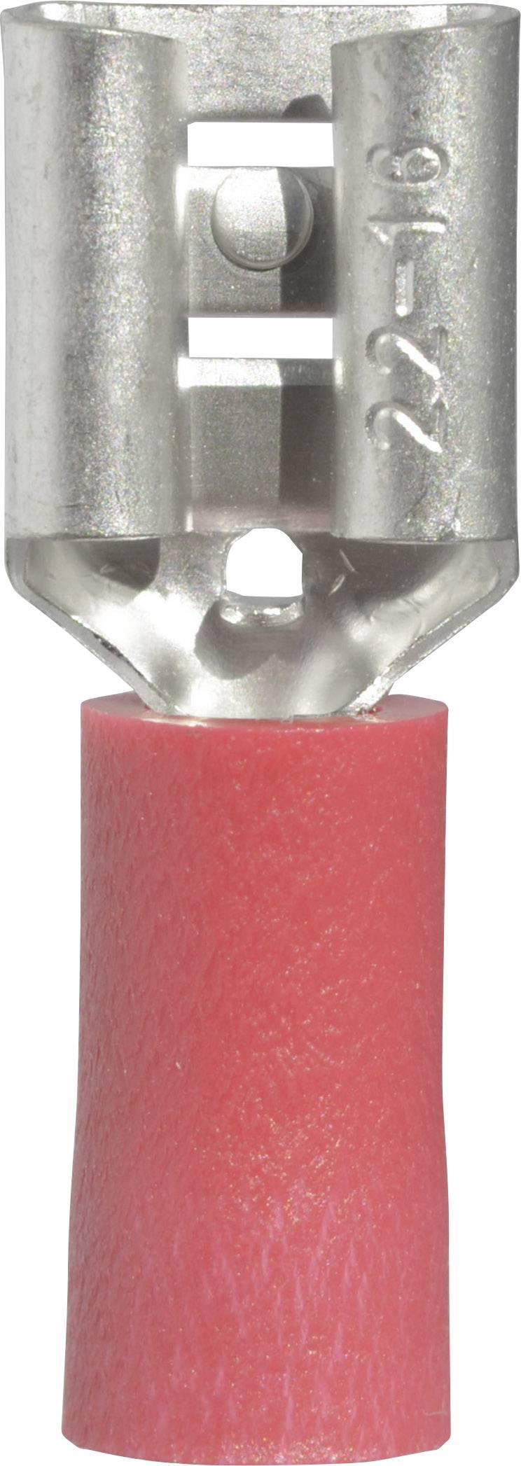 Faston konektor zásuvka Vogt Verbindungstechnik 3903 6.3 mm x 0.8 mm, 180 °, čiastočne izolované, červená, 1 ks