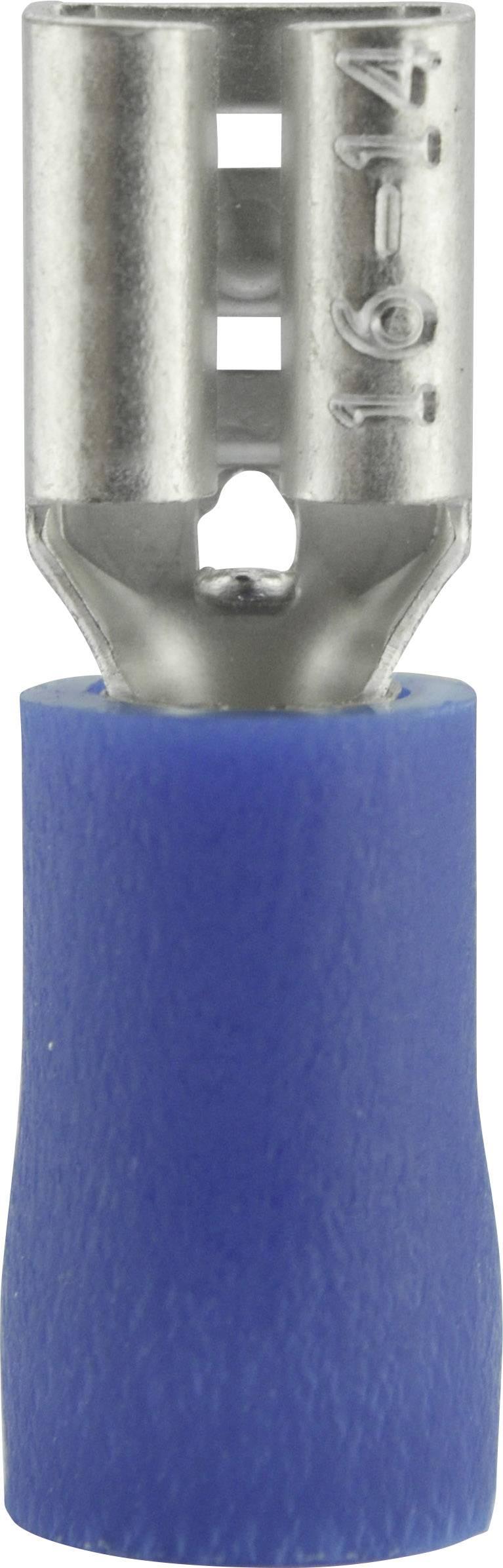 Faston zásuvka Vogt Verbindungstechnik 3905 4.8 mm x 0.8 mm, 180 °, částečná izolace, modrá, 1 ks