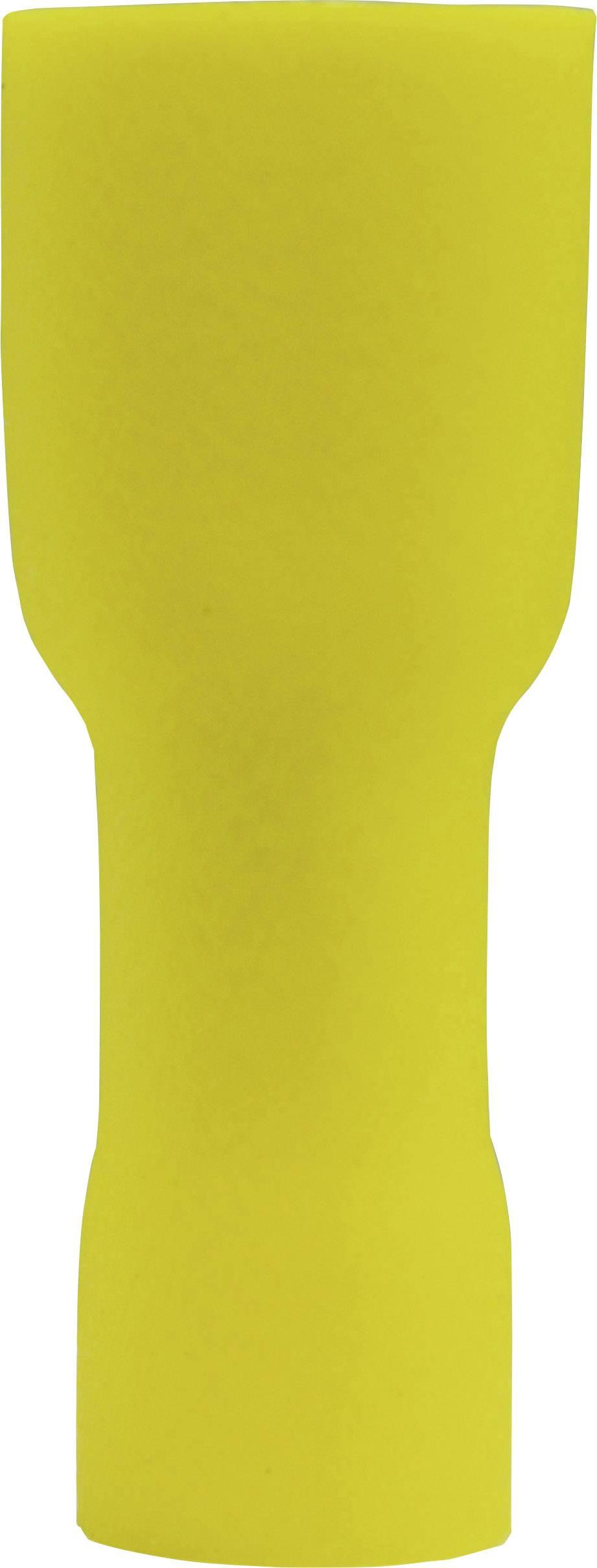 Faston zásuvka Vogt Verbindungstechnik 3947S 6.3 mm x 0.8 mm, 180 °, plná izolace, žlutá, 1 ks