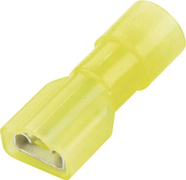 Faston konektor zásuvka Vogt Verbindungstechnik 3967S 6.3 mm x 0.8 mm, 180 °, úplne izolované, žltá, 1 ks