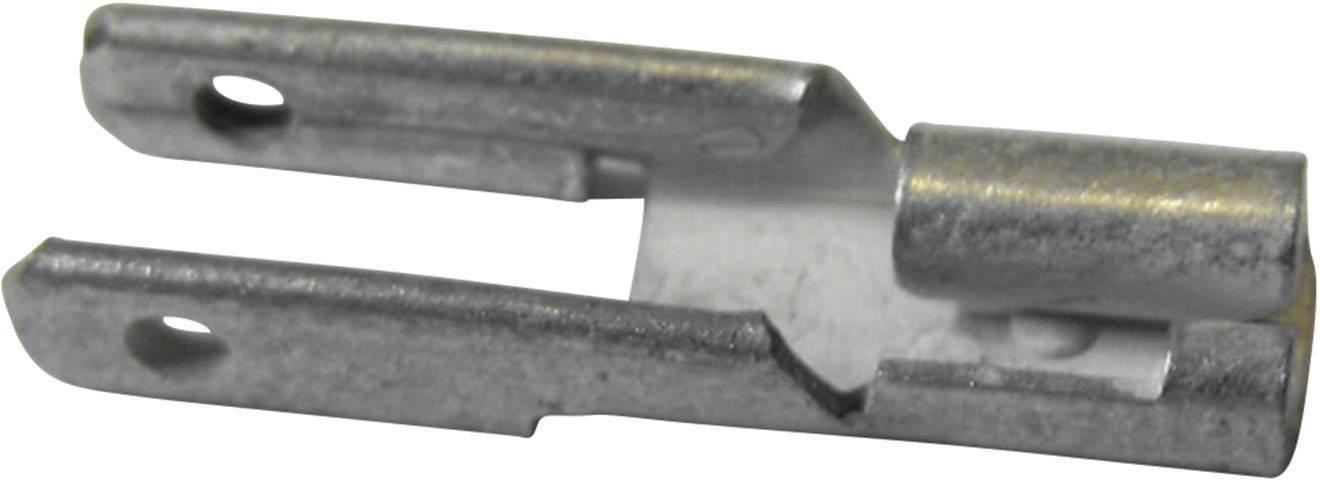 Plochý rozdělovač Vogt Verbindungstechnik 378108.67 s vetvením , 2.8 mm x 0.8 mm, 180 °, neizolované, kov, 1 ks