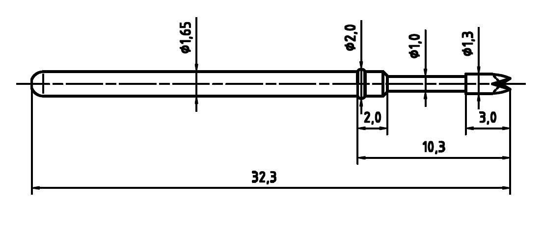 Skúšobný hrot PTR 2021-Q-1.5N-NI-1.3