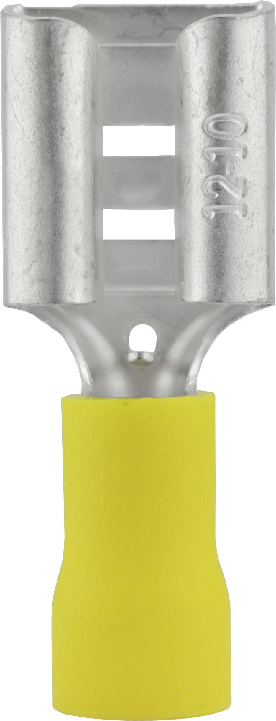 Faston konektor zásuvka Vogt Verbindungstechnik 3914 9.5 mm x 1.2 mm, 180 °, čiastočne izolované, žltá, 1 ks